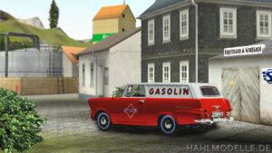P2 Kastenwagen - Fahrzeug und Hintergrund passend skaliert und vorläufiger Schatten gemalt